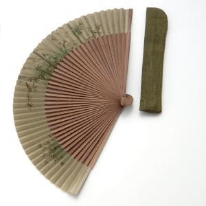 周年記念 創業記念 名入れ記念品  紳士用京扇子大短地絹張 竹と差し袋付き|craft-crowd