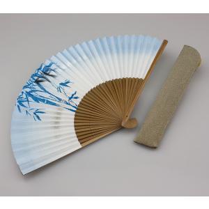 周年記念 創業記念 名入れ記念品  紳士用京扇子天青竹と差し袋付き|craft-crowd