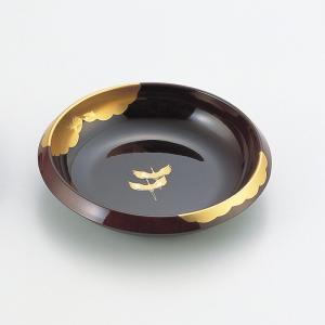 菓子鉢 溜 金雲昇鶴|craft-crowd
