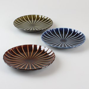 美濃焼 菊花皿3枚セット|craft-crowd