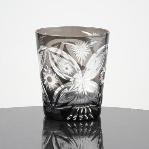 切子フリーカップ 蝶  1個入 化粧箱入|craft-crowd