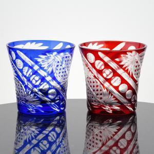 切子フリーカップ 八角かごめ  2個入 化粧箱入|craft-crowd