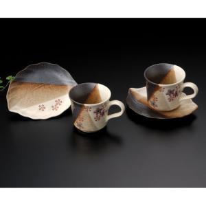 周年記念 お祝い 創立記念 創業記念 還暦祝い 退職記念  おしゃれ「九谷焼ペアコーヒーカップ&ソーサー 桜」|craft-crowd