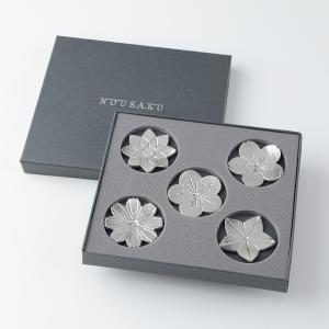 箸置き おしゃれ 結婚祝い 還暦祝い 女性 内祝い 能作 花ばな 5個セット 錫製品|craft-crowd