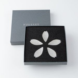 箸置き おしゃれ 可愛い 結婚祝い 内祝い 社内ギフト最適品 能作 さくら 5枚入 錫製品|craft-crowd