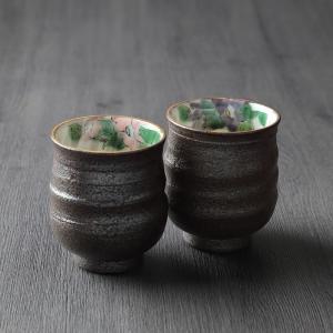九谷焼 組湯呑 色絵椿|craft-crowd