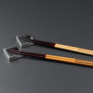 長寿祝い 還暦祝い ギフト 上司への贈りもの 箸置KAKUと箸寄木ラインのセット|craft-crowd