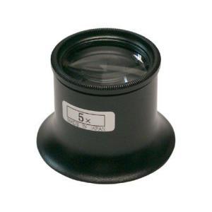 アイルーペ 5倍 拡大鏡 5倍 LEAF アイルーペ<メタルタイプ><φ23mmx5倍>#EYA-50|craft-navi