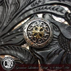 コンチョ/シルバー/ブラス/真鍮/レザーウォレット/革財布などのカスタマイズ用に/バイカーズ/財布/メンズ/cho-bb100|craft-you