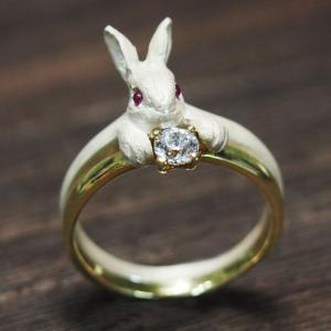 DECOvienya(デコヴィーニャ) 手作りアクセサリー ウサギの宝物リング ホワイト [DE-067W] craftcafe