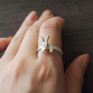 DECOvienya(デコヴィーニャ) 手作りアクセサリー ウサギの宝物リング ホワイト [DE-067W] craftcafe 04