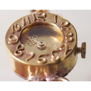 手作り腕時計 ハンドメイド ipsilon(イプシロン) fiore(フィオーレ) 金仕上げ レディース/ブレスレットタイプ/華奢/アンティーク調/レトロ/真鍮|craftcafe|02