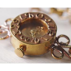 手作り腕時計 ハンドメイド ipsilon(イプシロン) fiore(フィオーレ) 金仕上げ レディース/ブレスレットタイプ/華奢/アンティーク調/レトロ/真鍮|craftcafe|05