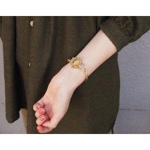 手作り腕時計 ハンドメイド ipsilon(イプシロン) fiore(フィオーレ) 金仕上げ レディース/ブレスレットタイプ/華奢/アンティーク調/レトロ/真鍮|craftcafe|06