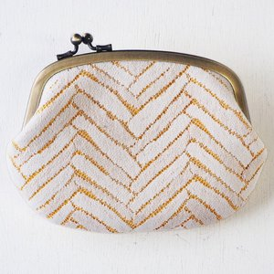 poussette(プセット) がまぐち4.5寸 Herringbone Rashel Lace ヘリンボーン ラッセルレース|craftcafe
