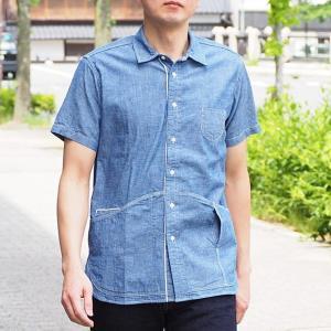 graphzero(グラフゼロ) ヘムポケットシャツ 半袖 セルビッチシャンブレー メンズ craftcafe
