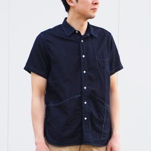 graphzero(グラフゼロ) ヘムポケットシャツ 半袖 ジンバブエコットン インディゴ メンズ craftcafe
