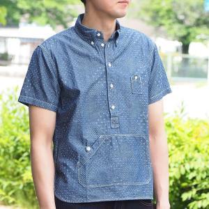 graphzero(グラフゼロ) トラベラーズプルオーバー ボタンダウンシャツ ジャガード ホワイト 半袖 メンズ craftcafe