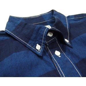 graphzero(グラフゼロ)トラベラーズプルオーバーボタンダウンシャツ 半袖 インディゴボーダー メンズ|craftcafe|04