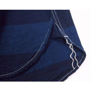graphzero(グラフゼロ)トラベラーズプルオーバーボタンダウンシャツ 半袖 インディゴボーダー メンズ|craftcafe|06