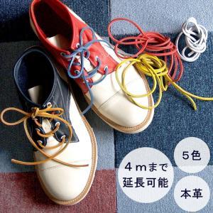 5色 IMPROVE MYSELF(インプルーブ マイセルフ)レザーシューレース(靴用革ひも)・3mm角 カジュアルカラー|craftcafe