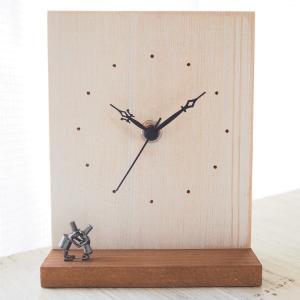ブロンズ造形作家・コイズミタダシ コビトの置時計「遠距離恋愛」|craftcafe