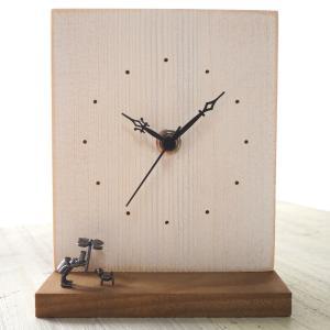 ブロンズ造形作家・コイズミタダシ コビトの置時計「雨降りの唄」|craftcafe