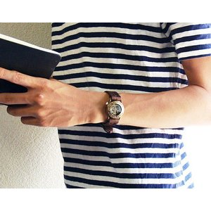 手作り腕時計 ハンドメイド 渡辺工房 手巻き式 裏スケルトン Explorer2 メンズブラス/アンティーク調/スチームパンク|craftcafe|04