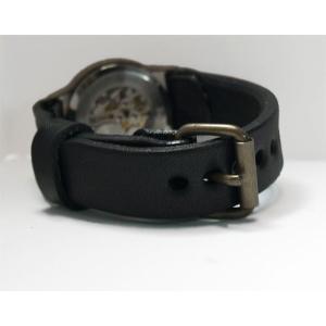 手作り腕時計 ハンドメイド 渡辺工房 手巻き式 裏スケルトン Explorer メンズブラス/アンティーク調/スチームパンク craftcafe 06