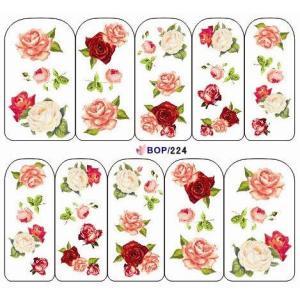 新作入荷!! ネイルシール ローズ 薔薇  ウォーターネイルシール BOP224|craftmarket