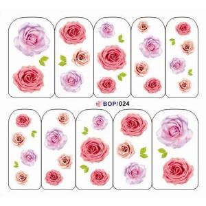 ネイルシール バラ 薔薇 フラワー 花 ウォーターシール BOP24|craftmarket