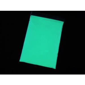 非防水タイプ 100g ブルーグリーン 蓄光パウダー 蓄光粉末 グローパウダー 蛍光粉末|craftmarket