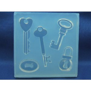 Jシリーズ 全25種取り扱い 鍵 J-3 シリコン型 シリコンモールド|craftmarket