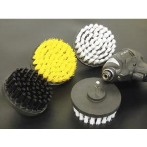 家庭用 「研磨のミツクラ バジブラシミニ」 直径10cm 4インチ 電動ドリル、電動ドライバーでブラシ磨き 選べる硬さ3種類