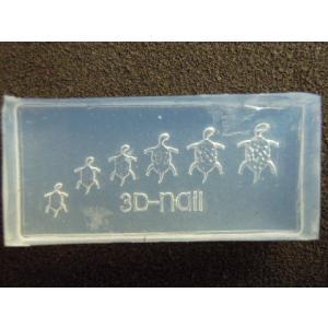 6個注文で1個無料 3Dシリコンモールド カメ 幸運の亀 金運 YH-16|craftmarket