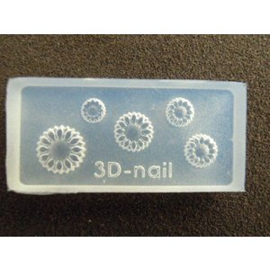 6個注文で1個無料 3Dシリコンモールド ひまわり ヒマワリ 花 フラワー YH-19|craftmarket
