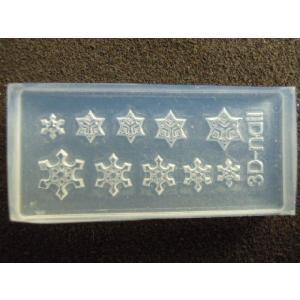 6個注文で1個無料 3Dシリコンモールド クリスマス 雪の結晶 YH-25|craftmarket