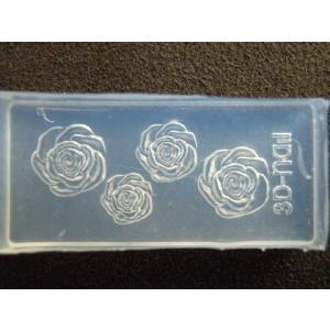 6個注文で1個無料 3Dシリコンモールド 薔薇 バラ 花 YH-65|craftmarket