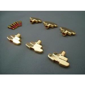 Grover(グローバー)109・インペリアルペグボタン(ゴールド) 6個・ネジセット 102もOK|craftn