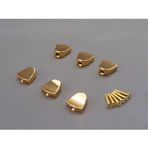 GOTOH(ゴトー)キーストンタイプ ゴールドノブ(ペグボタン) 6個・ネジセット|craftn