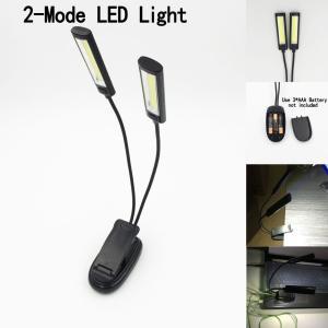 とにかく明るい譜面台ライト・読書ライト クリップライト COB LED2灯タイプ|craftn