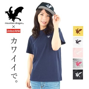 Tシャツ 半袖 マウンテンドラゴン メンズ レディース ワンポイント刺繍|craftworks