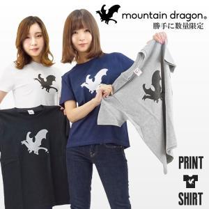 Tシャツ 半袖 マウンテンドラゴン メンズ レディース|craftworks