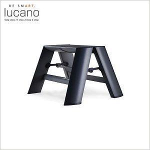 送料無料 lucano ルカーノ 脚立 おしゃれな踏台 1-step(1段) ブラックML1.0-1(BK) 1step craseal