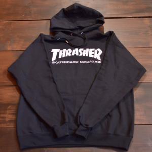 THRASHER パーカー スラッシャー スウェット セール SKATE MAG LOGO HOOD S M L BLACK メンズ レディース プルオーバー スケボー スケート ストリート フード|crass
