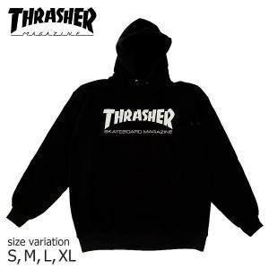 THRASHER パーカー MAG LOGO パーカー Black ブラック スラッシャー スウェット  メンズ レディース プルオーバー スケボー SK8 ストリート フード 黒|crass