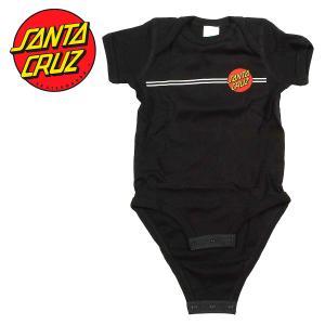 SANTA CRUZ INFANT CLASSIC DOT ONE PIECE BLACK ロンパース ワンピース ワンジー 赤ちゃん ベビーサイズ プレゼント ギフト 贈り物 出産祝い サンタクルーズ|crass