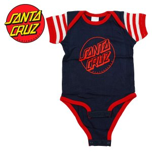SANTA CRUZ INFANT OPUS DOT ONE PIECE NAVY / RED ロンパース ワンピース ワンジー 赤ちゃん ベビーサイズ プレゼント ギフト 贈り物 出産祝い サンタクルーズ|crass