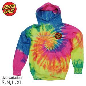 SANTA CRUZ Classic Dot P/O HOODED YOUTH Neon Rainbow パーカー プルオーバー トップス フーディー サンタクルーズ 長袖|crass
