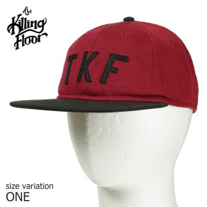 THE KILLING FLOOR キャップ 帽子 ザ キリングフロア COLLAGE UNSTRUCTURED STRAPBACK CAP BURGUNDY BLACK ストラップバック メンズ SKATE スケボー ロゴ|crass